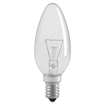 Лампа накаливания C35 40Вт E14 свеча прозрачный ИЭК