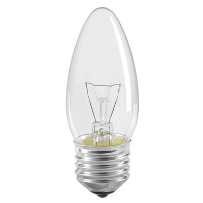 Лампа накаливания C35 40Вт E27 свеча прозрачный ИЭК