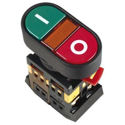 Кнопка управления ИЭК, APВВ-22N I-O d22мм неон/240В 1з+1р