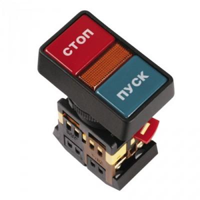 Кнопка управления ИЭК, РPВВ-30N I-O d30мм неон/240В 1з+1р