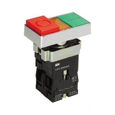Кнопка управления ИЭК, LAY5-BW8465 I-O сдвоенная с подсветкой