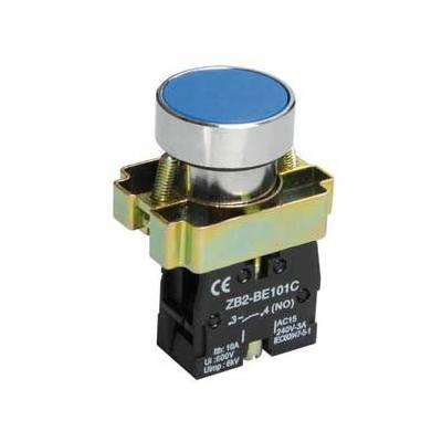 Кнопка управления ИЭК, LAY5-BA61 без подсветки синяя 1з