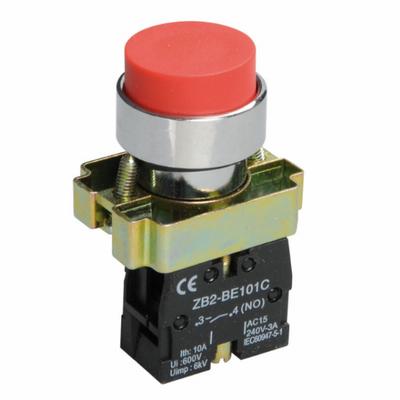 Кнопка управления ИЭК, LAY5-BL41 без подсветки красная 1з