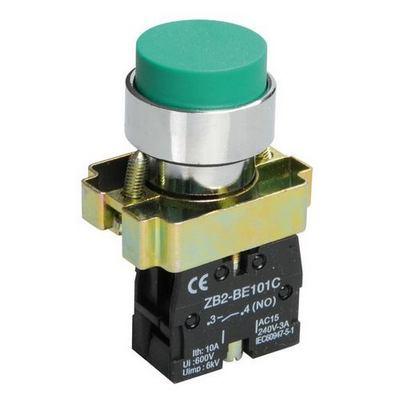 Кнопка управления ИЭК, LAY5-BL31 без подсветки зеленая 1з