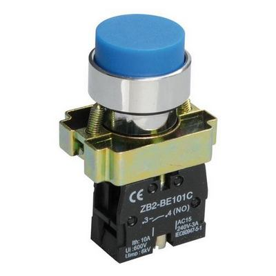 Кнопка управления ИЭК, LAY5-BL61 без подсветки синяя 1з