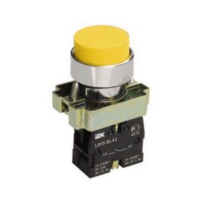 Кнопка управления ИЭК, LAY5-BL51 без подсветки желтая 1з