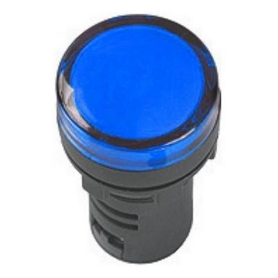 Лампа индикаторная ИЭК, AD16DS, светодиодная матрица, d16мм синий 36В AC/DC