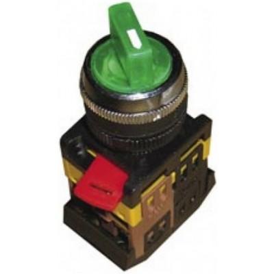 Переключатель ИЭК,АNС-22-2, 2-положения, зеленый неон, 240В I-O 1з+1р