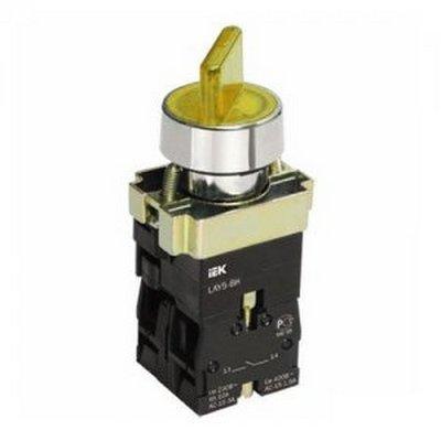 Переключатель ИЭК, LAY5-BK2565, 2-положения, желтый