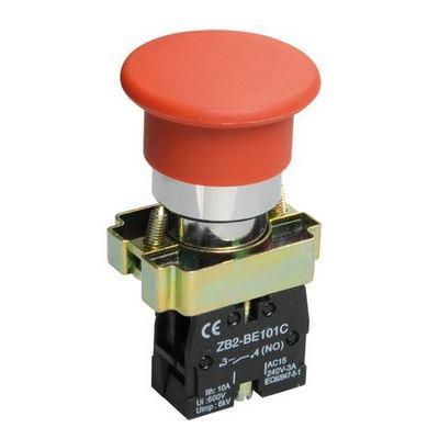 Кнопка управления ИЭК, LAY5-BC41Грибок красная 1з