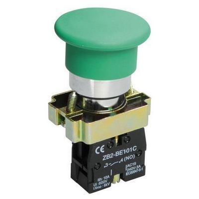 Кнопка управления ИЭК, LAY5-BC31Грибок зеленая 1з