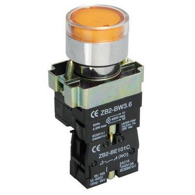 Кнопка управления ИЭК, LAY5-BW3561 с подсветкой желтый 1з