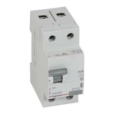 Выключатель дифференциального тока УЗО Legrand RX3 25А 30мА 2-полюса AC
