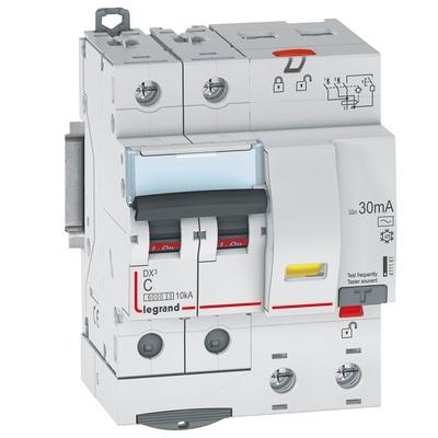 Дифференциальный автомат АВДТ DX3 2П C50А 2-полюса 30MA-AC LEGRAND 4м