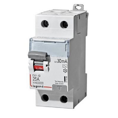 Выключатель дифференциального тока УЗО DX3 LEGRAND 2-полюса 25А 30мА-AC