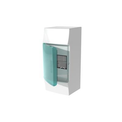 Бокс навесной ABB Mistral41, 4-модуля, пластиковый, зеленая дверь, без клемм