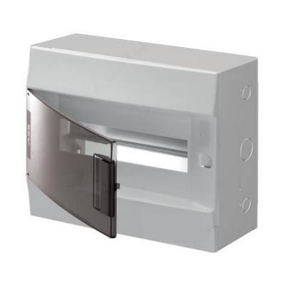 Бокс навесной ABB Mistral41, 12-модулей, пластиковый, прозрачная дверь, с клеммами