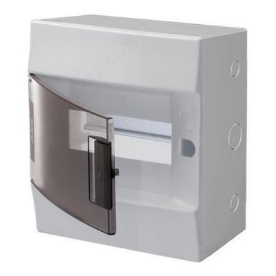 Бокс навесной ABB Mistral41, 8-модулей, пластиковый, прозрачная дверь, с клеммами