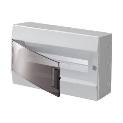 Бокс навесной ABB Mistral41, 18-модулей, пластиковый, прозрачная дверь, с клеммами