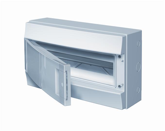 Бокс навесной ABB Mistral65, 18-модулей, пластиковый, IP65 влагозащищенный, непрозрачная дверь, без клемм