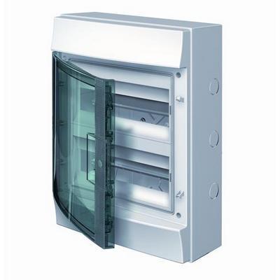 Бокс навесной ABB Mistral65, 24-модуля, пластиковый, IP65 влагозащищенный, прозрачная дверь, с клеммами