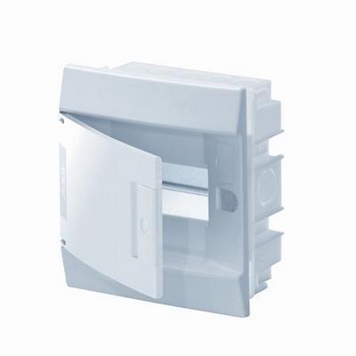 Бокс встраиваемый ABB Mistral41, 6-модулей, пластиковый, непрозрачная дверь, без клемм