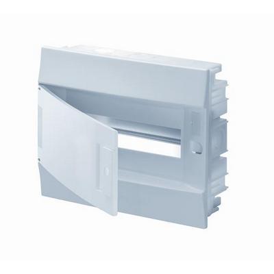 Бокс встраиваемый ABB Mistral41, 12-модулей, пластиковый, непрозрачная дверь, без клемм