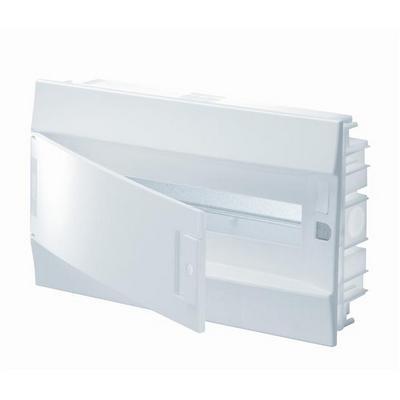 Бокс встраиваемый ABB Mistral41, 18-модулей, пластиковый, непрозрачная дверь, с клеммами