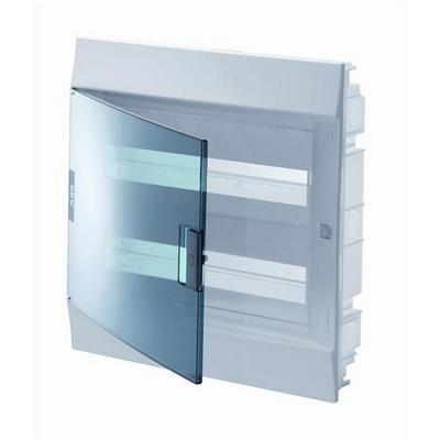 Бокс встраиваемый ABB Mistral41, 24-модуля, пластиковый, прозрачная дверь, с клеммами