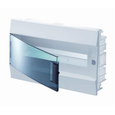 Бокс встраиваемый ABB Mistral41, 18-модулей, пластиковый, прозрачная дверь, с клеммами