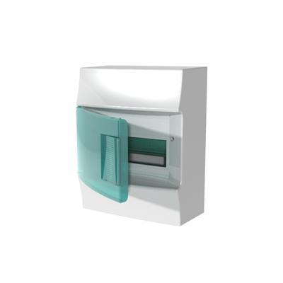 Бокс навесной ABB Mistral41, 8-модулей, пластиковый, зеленая дверь, без клемм