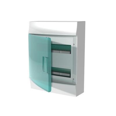 Бокс навесной ABB Mistral41, 24-модуля, пластиковый, зеленая дверь, без клемм