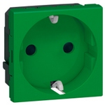 Розетка Legrand Mosaic 2К+3 2 модуля зеленая