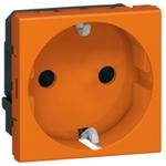 Розетка Legrand Mosaic 2К+3 2 модуля оранжевая