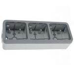 Трехместная коробка Legrand Plexo серая 3-поста горизонтальная установка накладной монтаж
