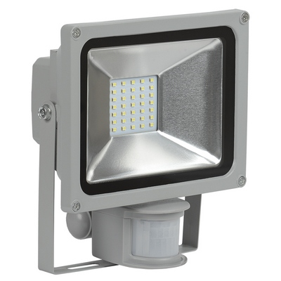 Прожектор светодиодный ИЭК (IEK) 20Вт СДО 05-20Д серый, с датчиком движения SMD IP44