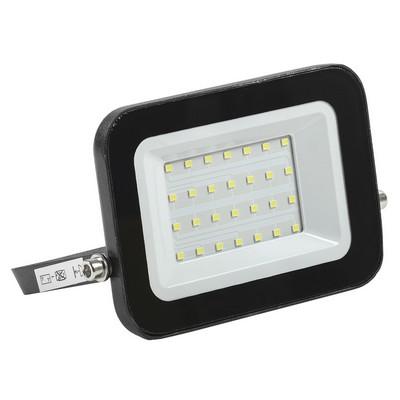 Прожектор светодиодный ИЭК (IEK) 20Вт СДО 06-20 черный IP65 4000K