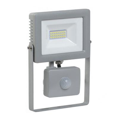 Прожектор светодиодный ИЭК (IEK) 10Вт СДО 07-10Д серый, с датчиком движения IP44