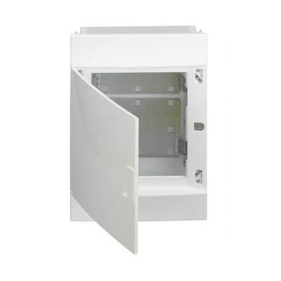 Бокс мультимедийный в нишу ABB Mistral41F 2х12М, 24 модуля, с монтажной платой непрозрачной дверью