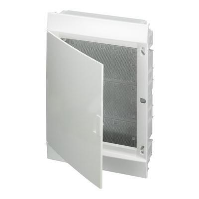 Бокс мультимедийный в нишу ABB Mistral41F 3х12М, 36 модулей, с монтажной платой непрозрачной дверью