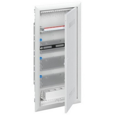 Шкаф в нишу мультимедийный ABB с дверью с вентиляционными отверстиями и DIN-рейкой UK630MV (3 ряда)