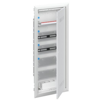 Шкаф в нишу мультимедийный ABB с дверью с вентиляционными отверстиями и DIN-рейкой UK640MV (4 ряда)