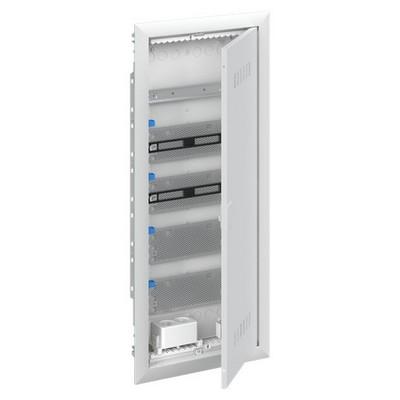 Шкаф в нишу мультимедийный ABB с дверью с вентиляционными отверстиями и DIN-рейкой UK650MV (5 рядов)