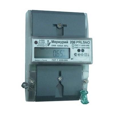 Электросчетчик Меркурий 206 N 5(60)А/220В многотарифный, однофазный ЖКИ