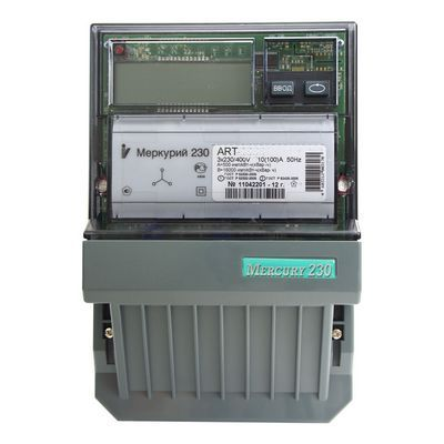 Счетчик электроэнергии Меркурий 230 ART-00 C(R)N 5(7.5) трехфазный многотарифный многофункциональный