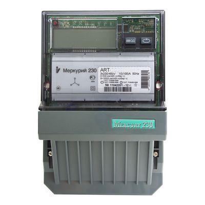 Счетчик электроэнергии Меркурий 230 AR-00 C(R) 5(7,5) ЖКИ трехфазный однотарифный