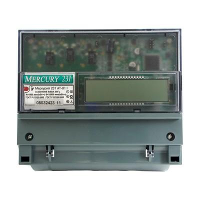 Счетчик электроэнергии Меркурий 231 AT-01 I 5(60) ЖКИ трехфазный, многотарифный