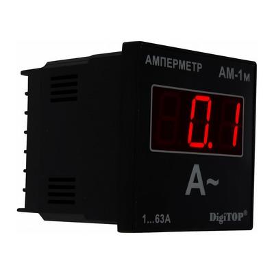 Амперметр цифровой DigiTOP Ам-1м, 1А-63А, 230в, однофазный, без корпуса