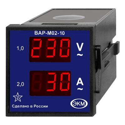 Вольтметр амперметр цифровой Меандр ВАР-М02-10 AC20-450В УХЛ4, встраиваемый