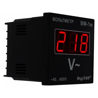 Вольтметр цифровой DigiTOP Вм-1м, 40B-400B, однофазный, без корпуса